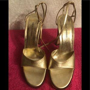 Vintage Dolce & Gabbana gold heels.